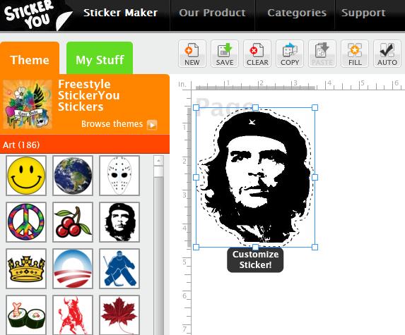 create printable sticker