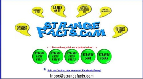 strange and unusual facts