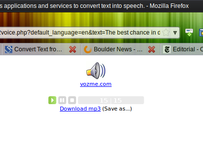 text2speech3   Text To Voice: Firefox Extension Vocalizes Highlighted Words