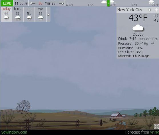 virtual weather display
