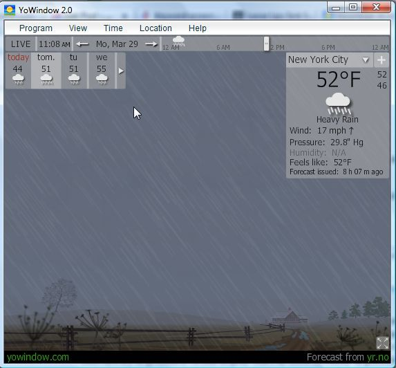 YoWIndow - A Really Cool Weather App With Virtual Weather Display yowindow5