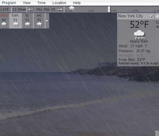 YoWIndow - A Really Cool Weather App With Virtual Weather Display yowindow7
