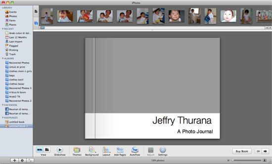 create photo book iphoto
