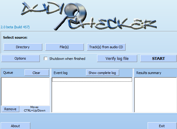 Audiochecker - Check The Origins Of Your Music Files ACK Start