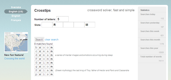 solve crossword puzzles online