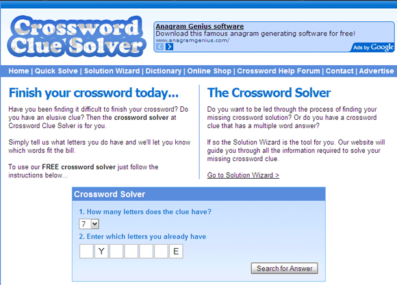 solve crossword puzzles