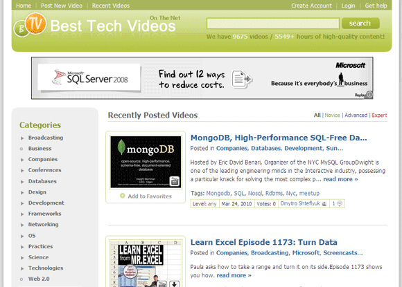 12 Great Free Video Tutorial Sites To Brush Up Your Tech Skills Video Tutorial11