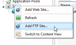 how to set up an FTP site