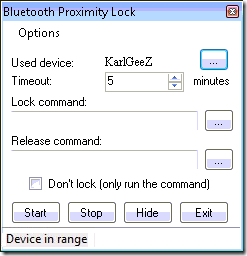 bluttoth proximity access