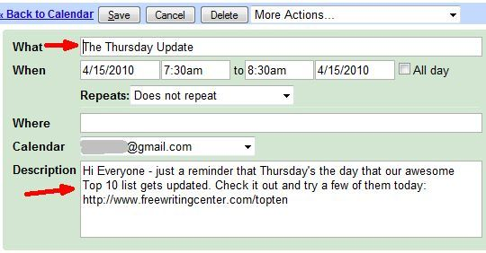 google calendar time management