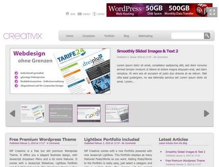 non-blog WordPress themes