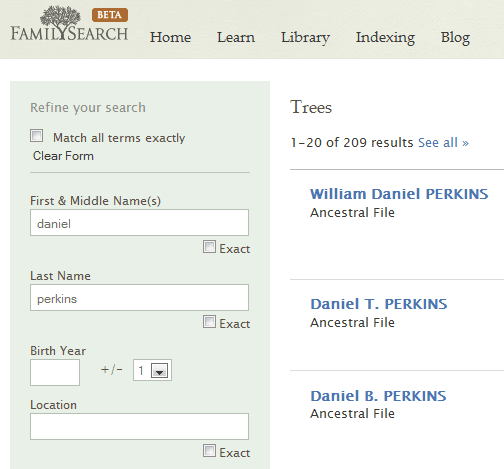 historical family records