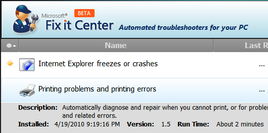 microsoft automated fixes