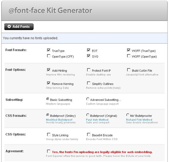 font face generator