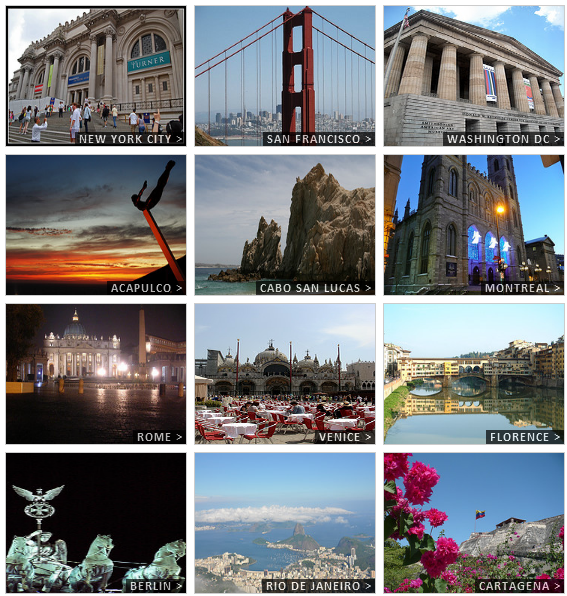 visual travel guide