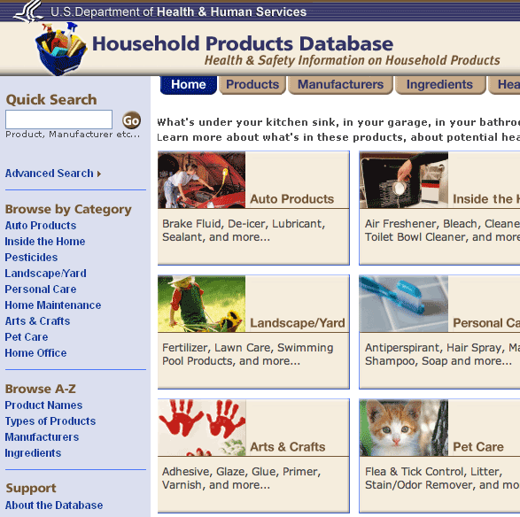common household products