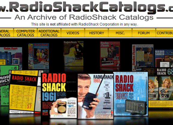 radio shack catalogs online