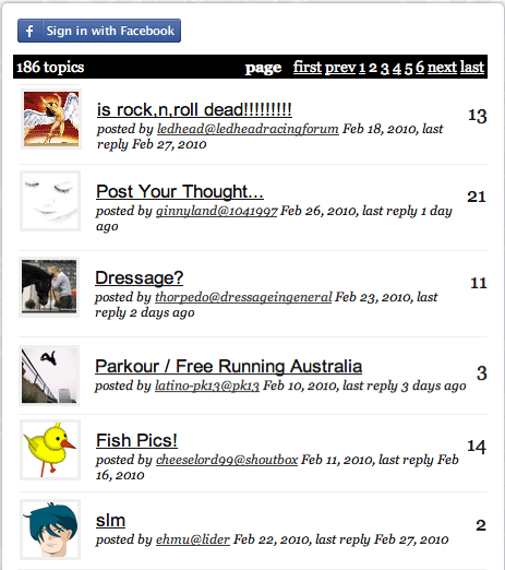 embed a forum in your website