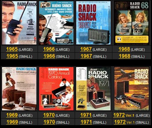 radio shack catalogs online