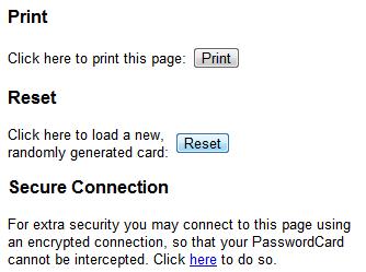 password card