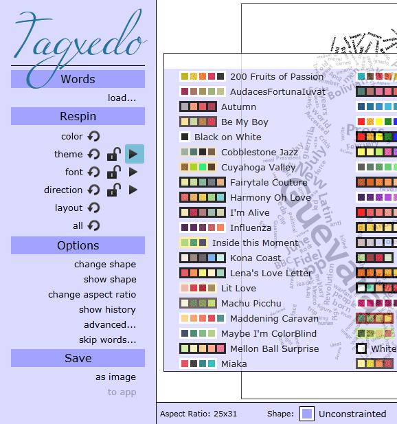 generate tag clouds