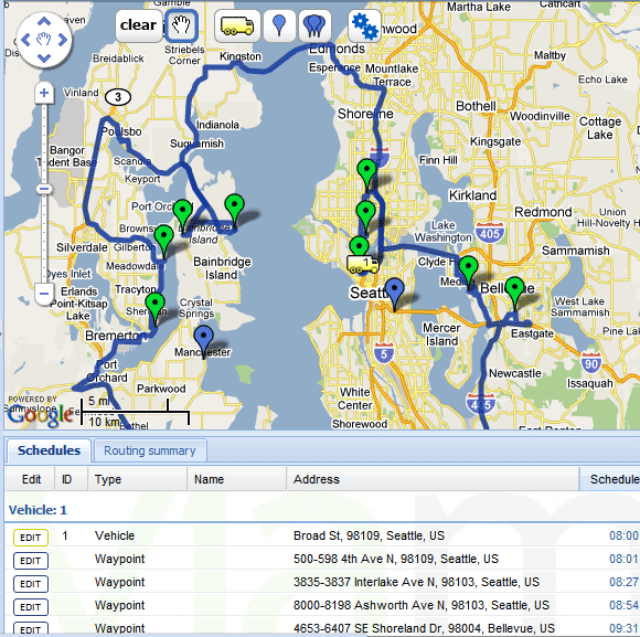 optimal driving route