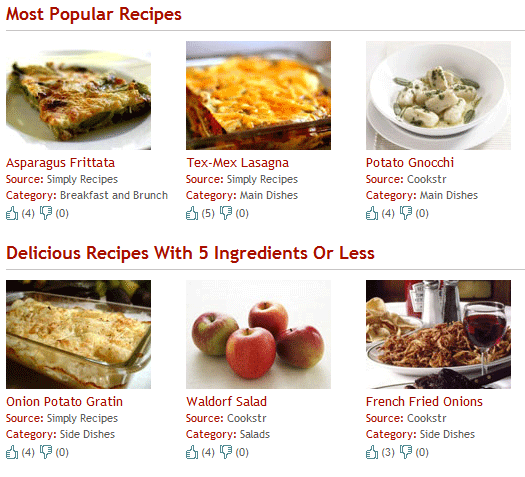 search for recipes based on ingredients