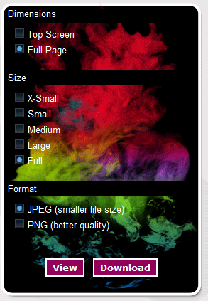 full page screenshots