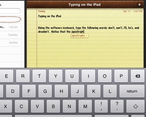 how is typing on the ipad