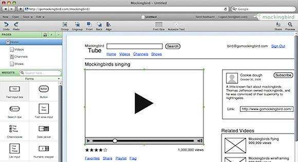 3 Tools to Create Mock-Up Designs and Wireframes Online mockingbird