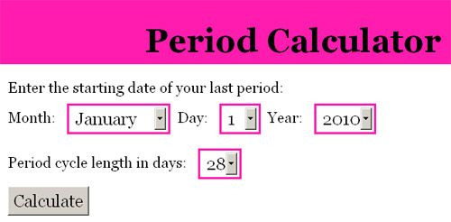 keep track of periods