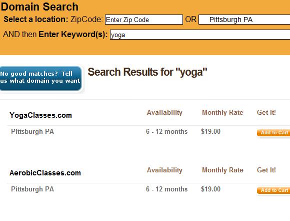 lease a domain name
