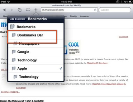 key features of safari iPad