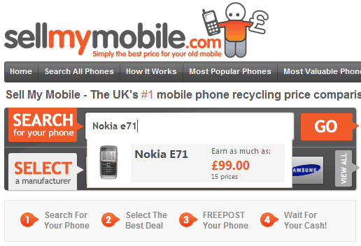 sellmymobile   SellMyMobile: Find The Best Price For Your Old Mobile Phone