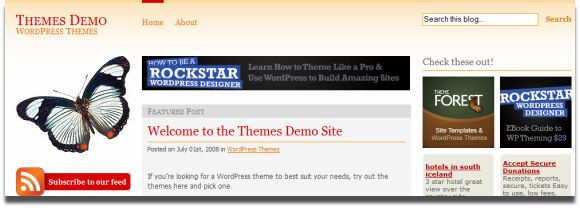 Wordpress themes with ad space