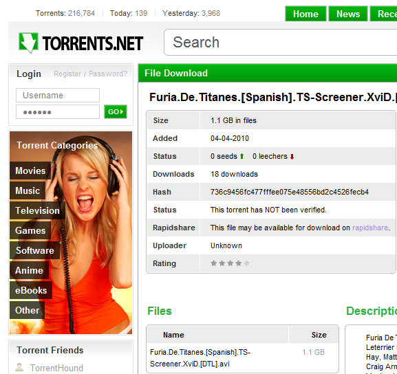 verified torrent search engine