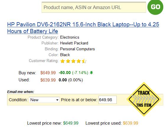 amazon price drop notification