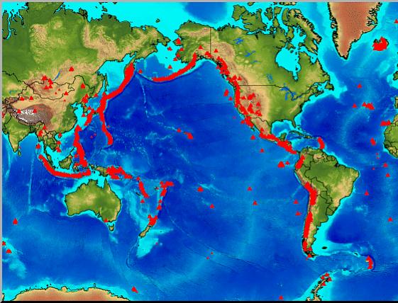 volcanoes names location