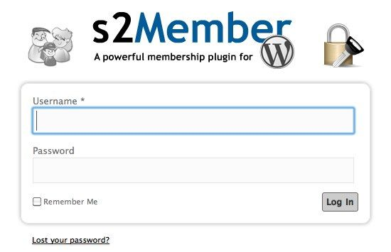 How To Create A Membership-Only Website using WordPress 05 New Log In Interface