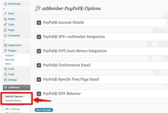 How To Create A Membership-Only Website using WordPress 07 s2Member PayPal Options