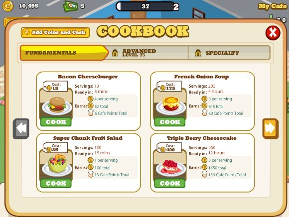7 Cool Hacks & Cheats For Cafe World On Facebook 1 cafe world food