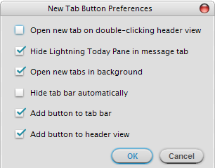 toolbar buttons thunderbird