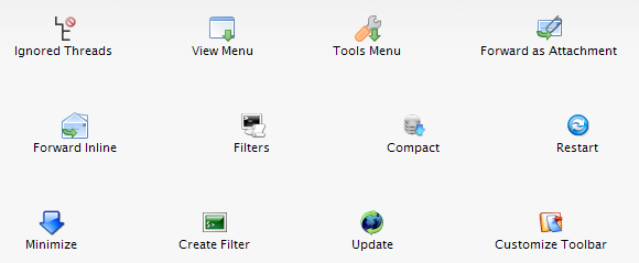 10 Must-Have Toolbar Buttons for Thunderbird 3 ToolbarButtons11