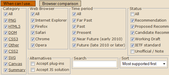 web browser feature comparison