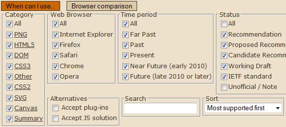 web browser feature comparison
