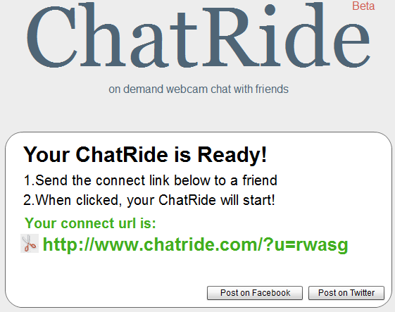 chatride1   ChatRide: Free Video Conversation Tool Within Your Browser
