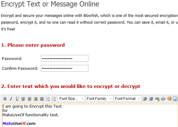text encryption and decryption