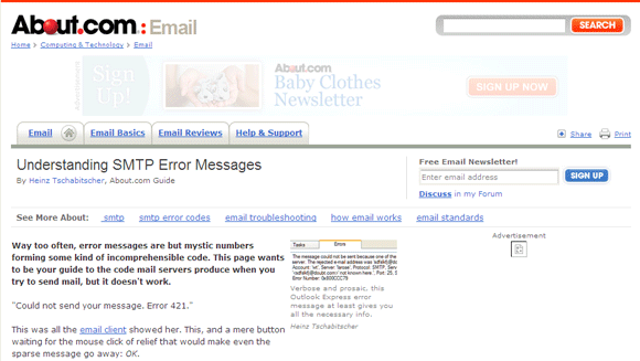 smtp error codes