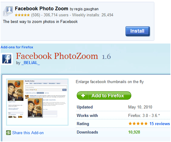 facebook zoom   Photo Zoom: Enlarge Facebook Photos By Hover Mouse Pointer (Firefox + Chrome)