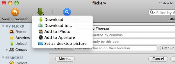 Total Access to Flickr Account from your Mac [MakeUseOf Giveaway] flickerydownload